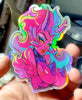 HOLOGRAPHIC 80's Retro Succubus Limited Sticker 100 PCS