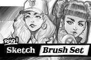 Reiq Photoshop Sketch & Drawing Brush Set