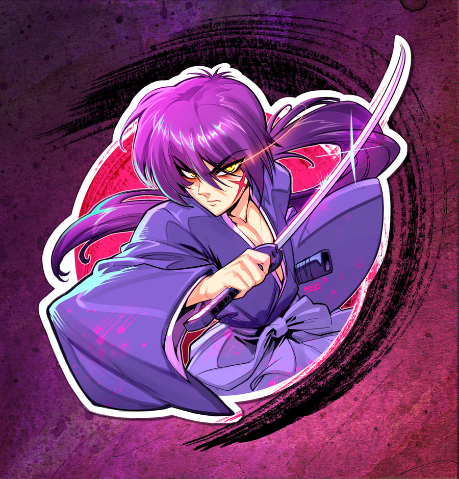 Rurouni Kenshin The Battousai Samurai X Sticker 200 Pcs