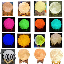 Load image into Gallery viewer, 16 Colour 3D Moon Lamp - 15cm Diameter | Monthly Madness