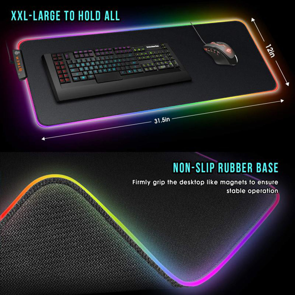 Ntech RGB LED Colour Changing XL Gaming Mouse Pad