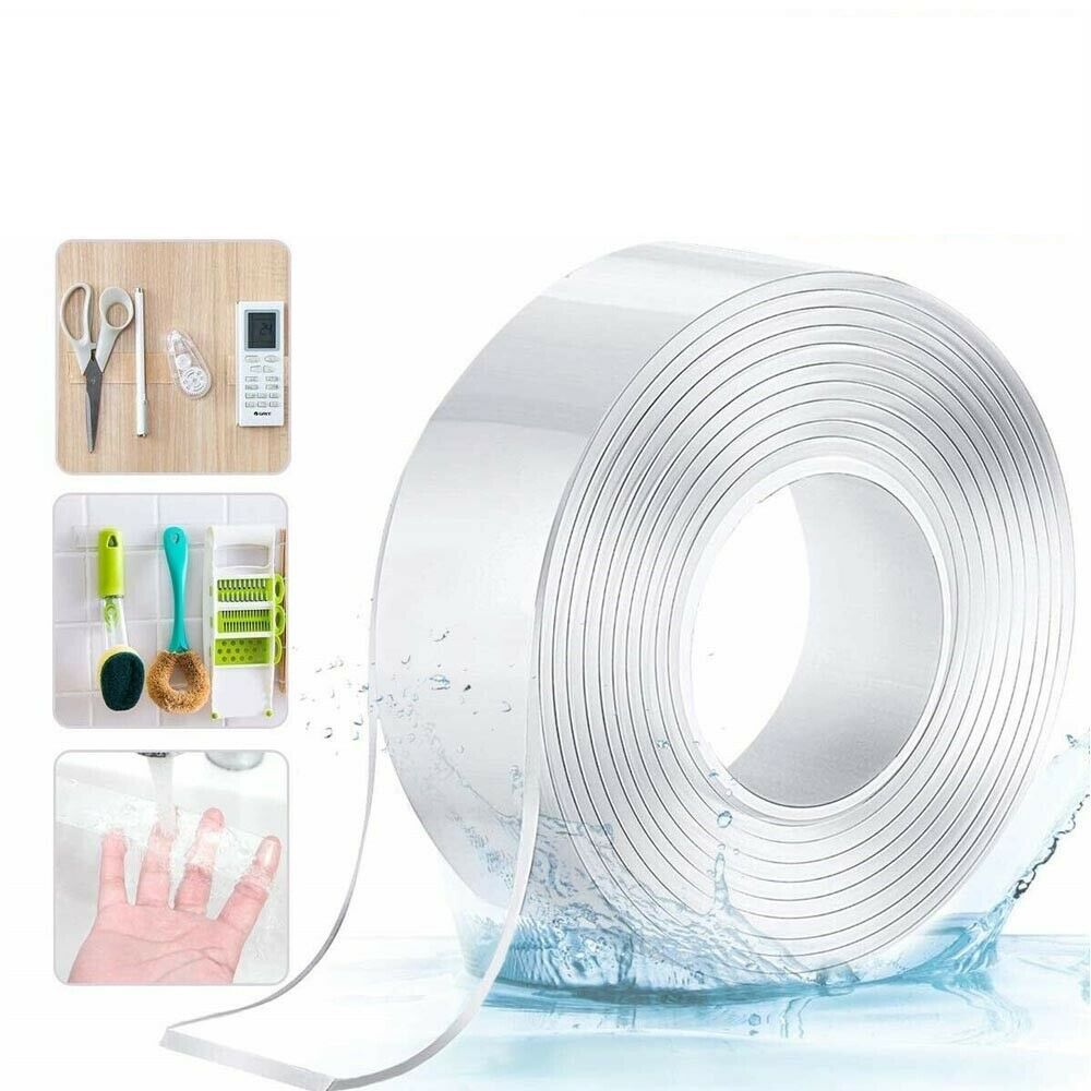Maisonware 5 Meter Transparent Removable Reusable Tape