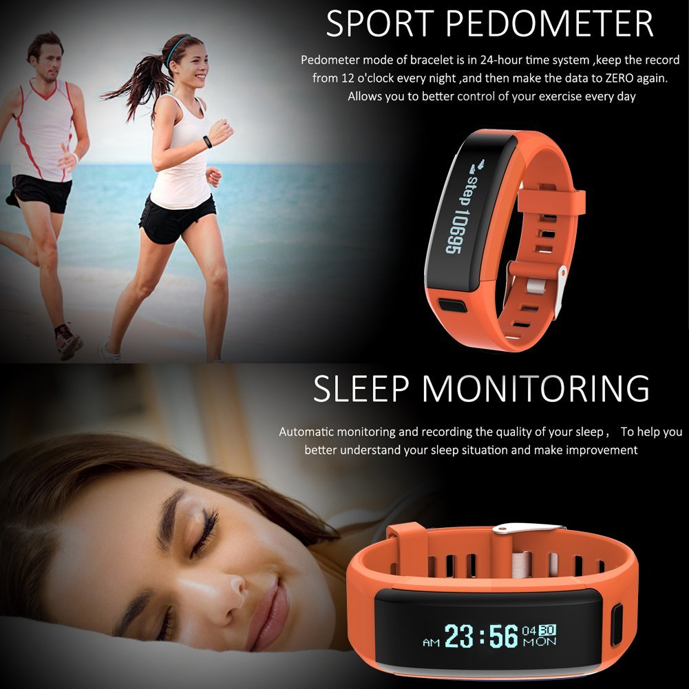 NO.1 F1 Heart Rate Monitor Bluetooth Smart Band - Blue Smartwatch | Monthly Madness