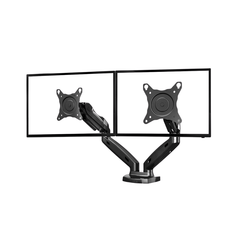 NB North Bayou Dual Arm Adjustable Monitor Desk Mount Stand