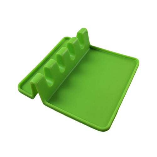 Kitchen Heat Resistant Silicone Utensil Rest with Drip Pad