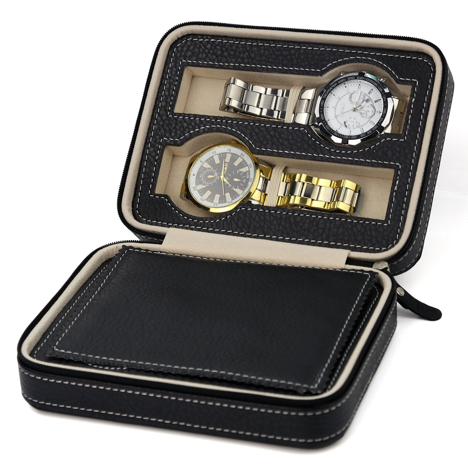 Triton Luxury PU Leather Watch Organizer Box | Monthly Madness
