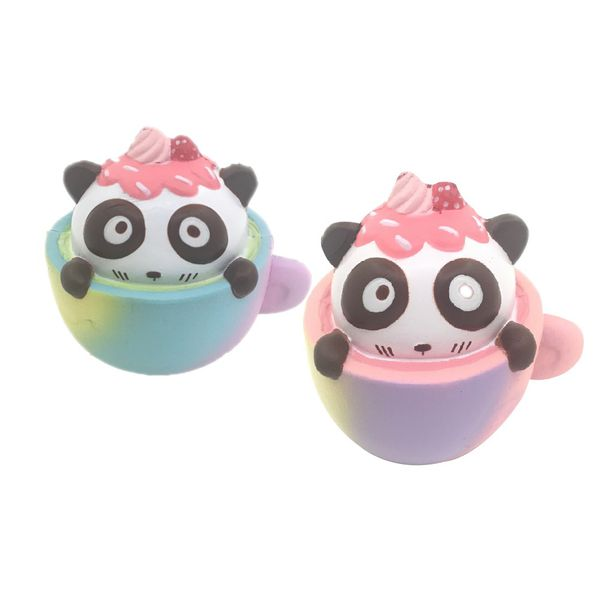 Gigglebread Scented Squishy Panda Cup Cake - Set of 2 | Monthly Madness