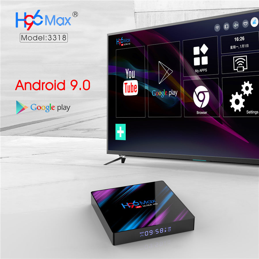 Ntech H96 Max 4K HD Android 9 TV Box  - 2GB/16GB