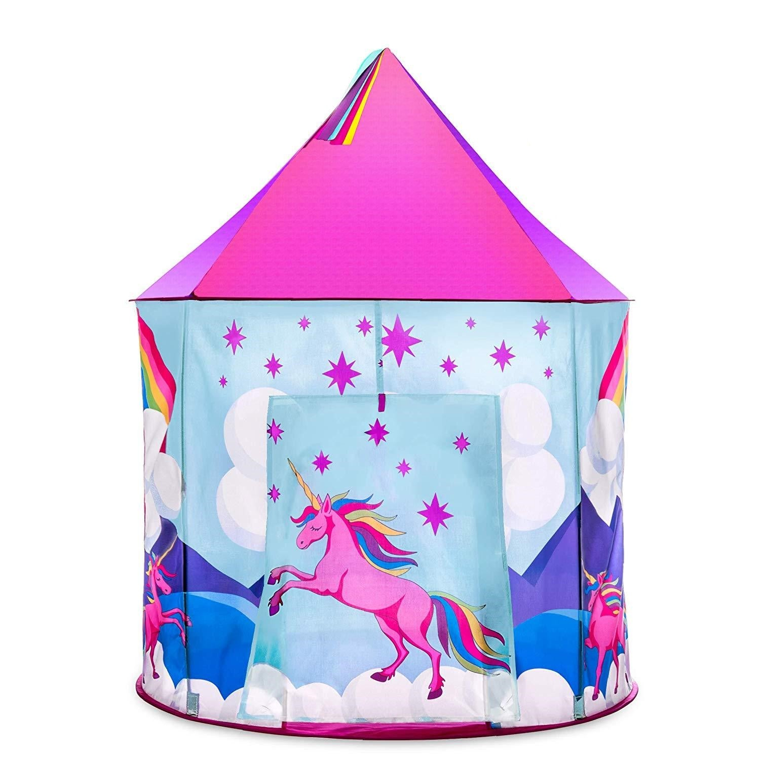 JuniorFX Pop-up Unicorn Castle Play Tent | Monthly Madness