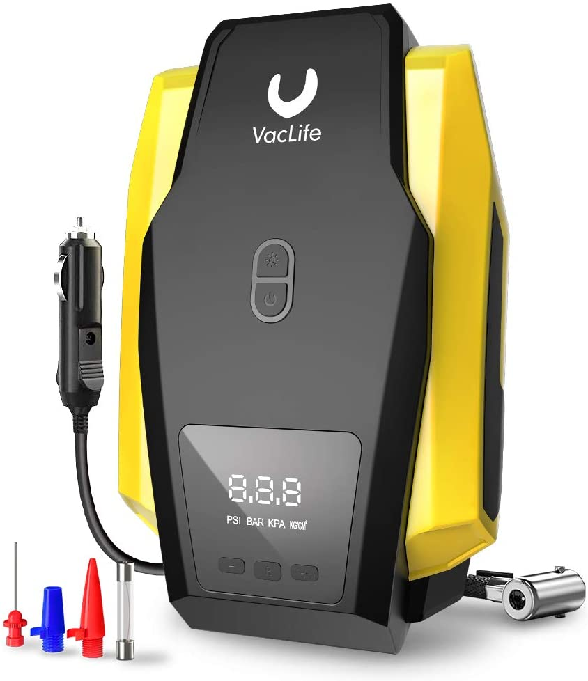 VacLife12V Digital Air Compressor and Tyre Inflator