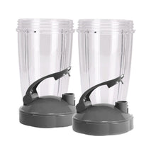 Load image into Gallery viewer, KitchenFX Nutribullet Replacement Cups with Lids - Set of 2 | Monthly Madness