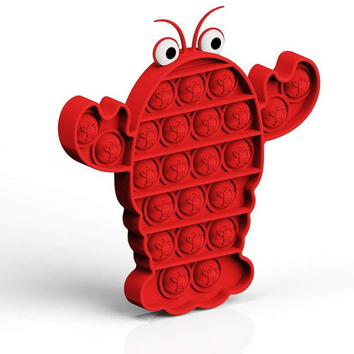 Crayfish Pop and Push Bubble Fidget Sensory Toy