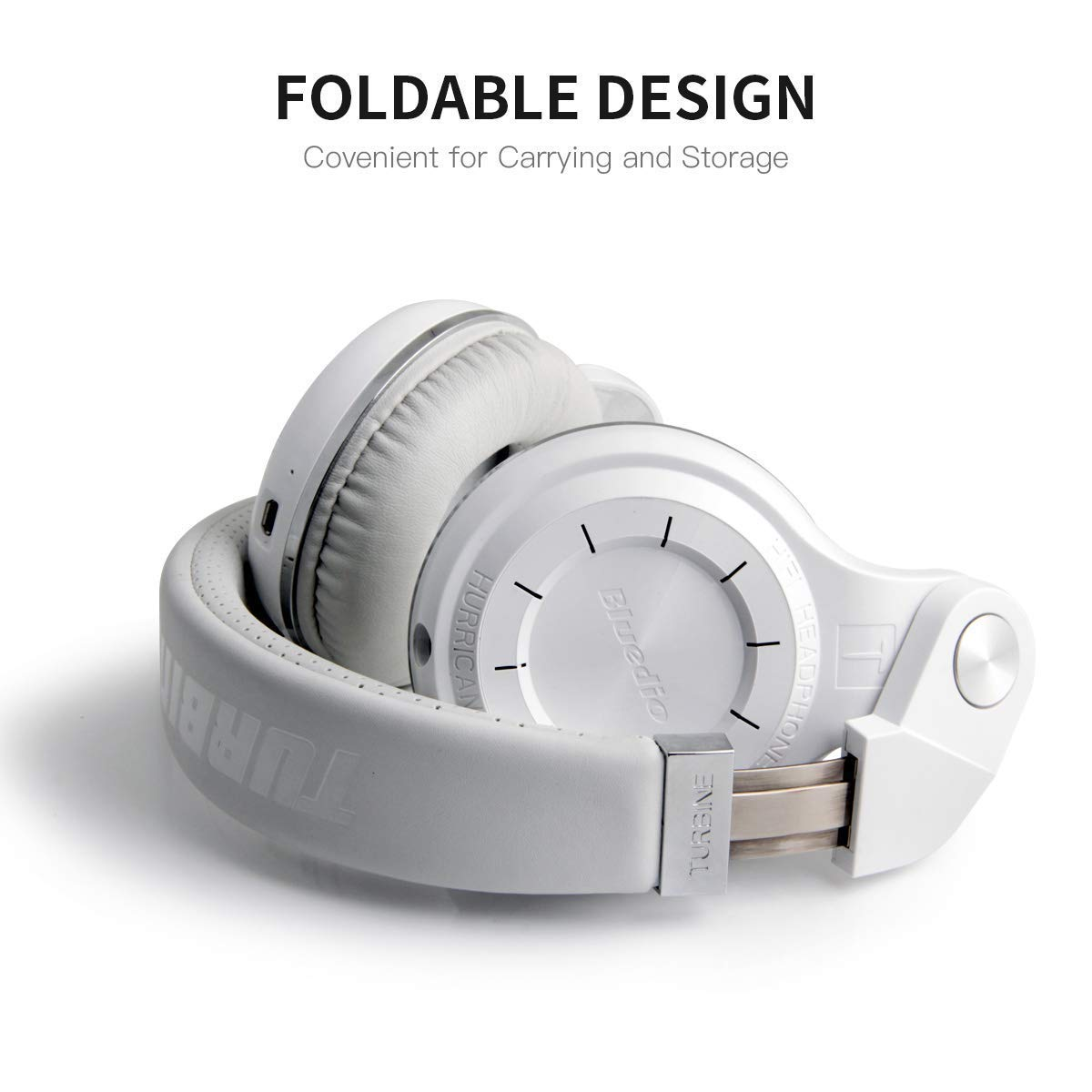 Bluedio T2+ Bluetooth Headphone - White | Monthly Madness