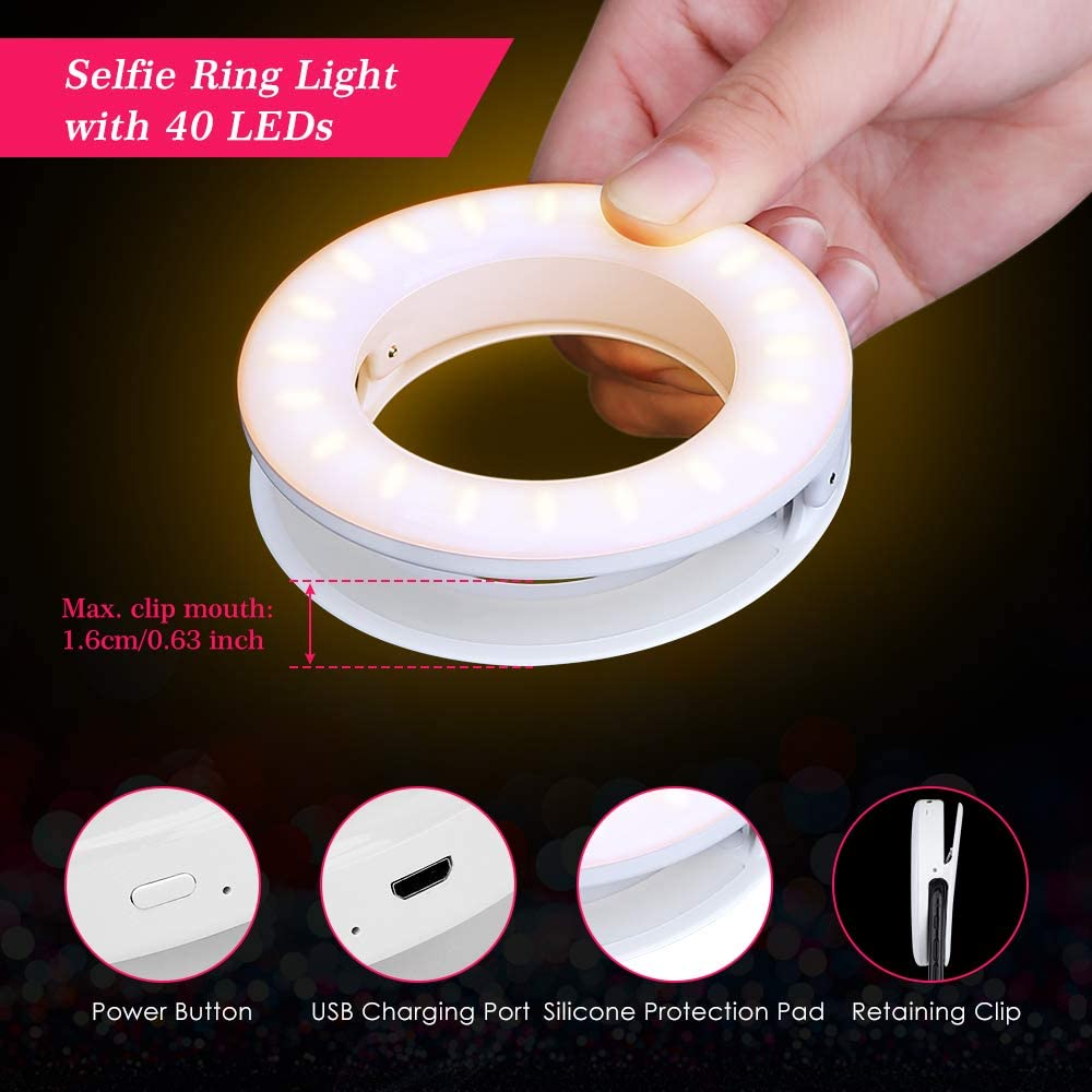 Lumina Clip on Portrait Selfie Ring Light for Smartphones