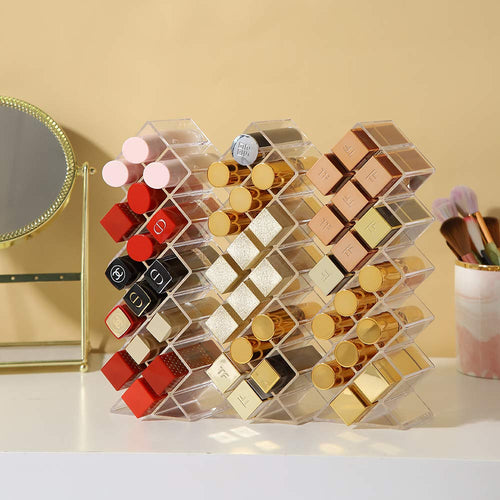 Styleberry Set of 3 Clear Acrylic Makeup Display