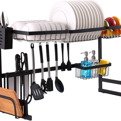 Maisonware Adjustable Stainless Steel Over Sink Dish Drying Rack
