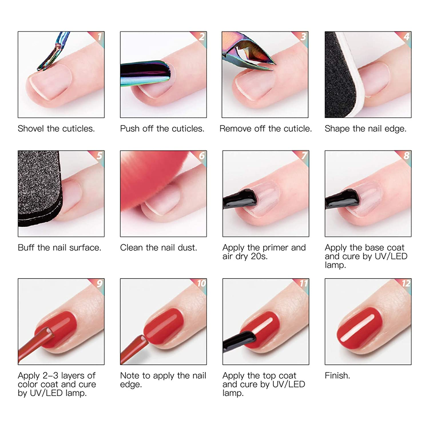 GELFAVOR Gel Nail Polish Set 6 Colours
