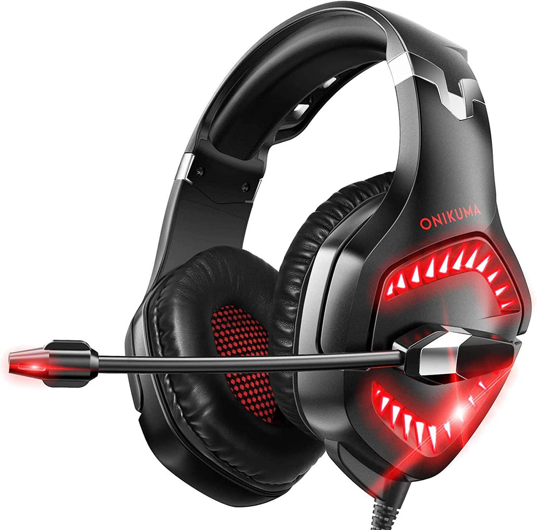 ONIKUMA K1 Pro Red and Black Gaming Headset