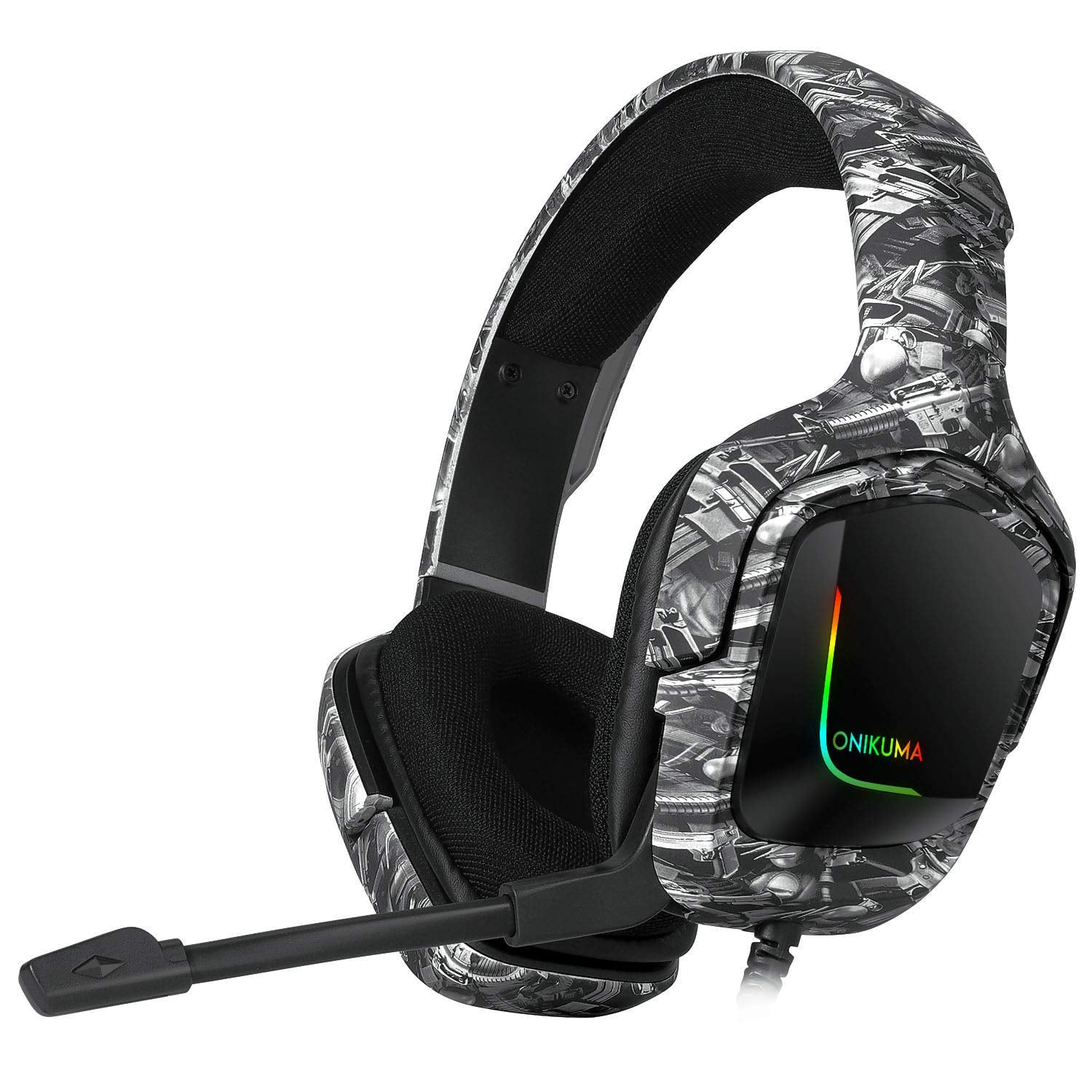 Onikuma K20 Gaming Headset Over-Ear Headphones With Microphone - Black