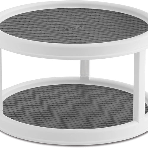 Maisonware Non-Skid 2-Tier Pantry Cabinet Lazy Susan