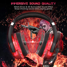 Load image into Gallery viewer, ONIKUMA K1 Pro Red and Black Gaming Headset