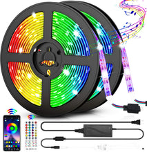 Load image into Gallery viewer, Lumina RGB 150 LED 5m Rope Strip Lights with Remote Set of 2