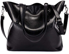 Load image into Gallery viewer, PU Leather Women's Tote Shoulder Bag - Black | Monthly Madness