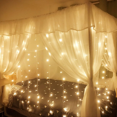 Solar Powered Curtain Fairy Light