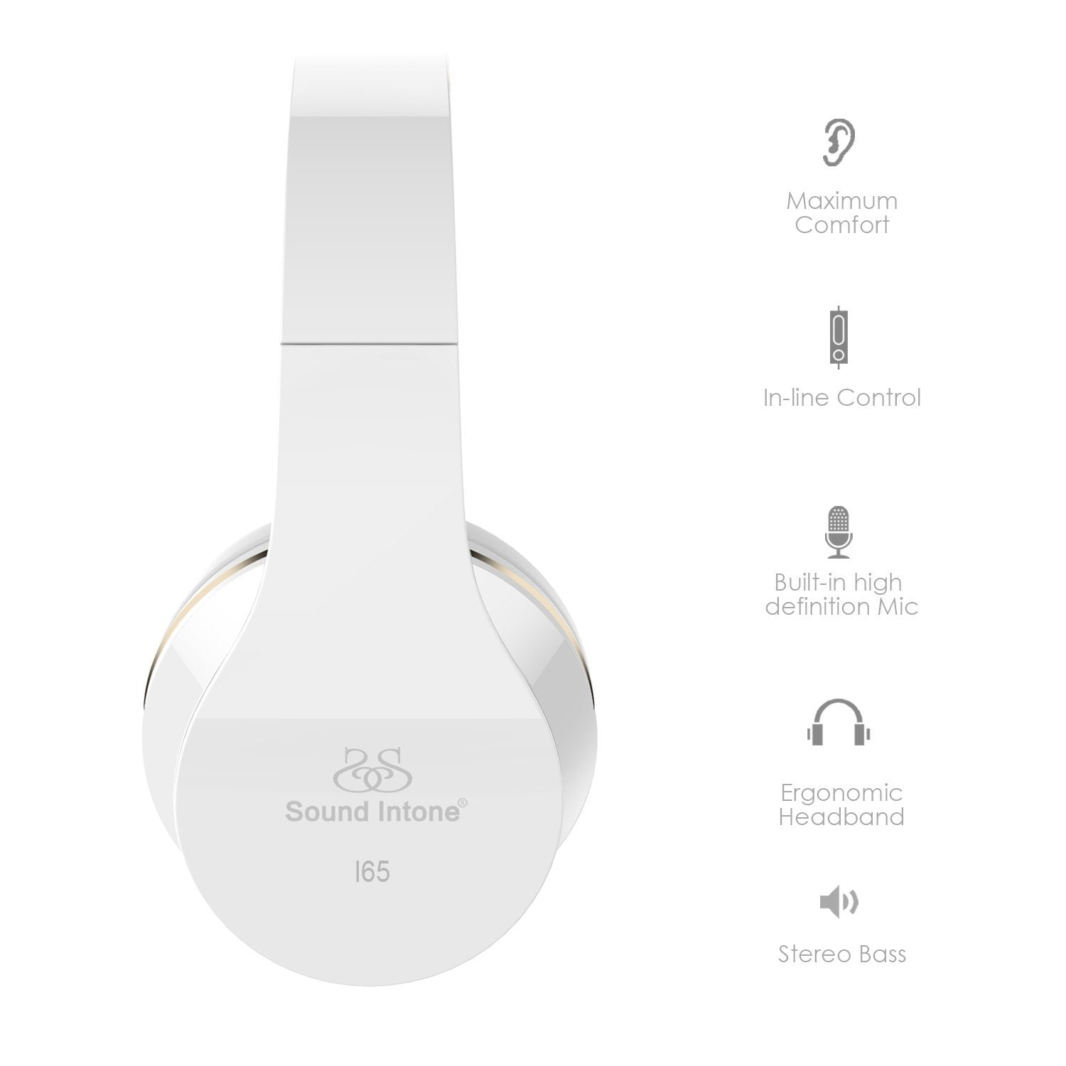 Sound Intone I65 Foldable Headphones - White | Monthly Madness