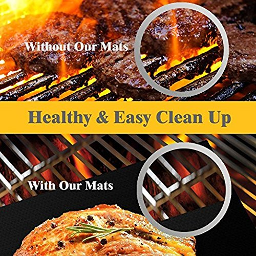 Set of 3 Premium Reusable Non Stick BBQ Braai Grill Mats | Monthly Madness