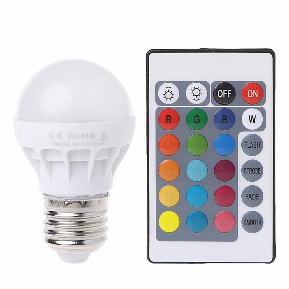 LED Colour Change RGB Light Bulb and Remote Control | Monthly Madness