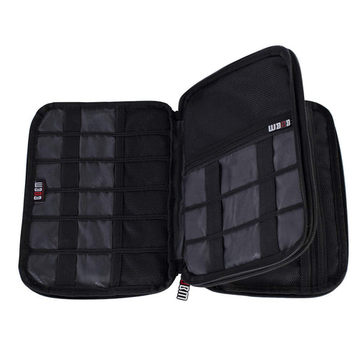 BUBM Double-Layered Electronic and Cable Organizer Case - Large