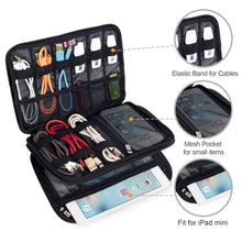 Load image into Gallery viewer, BUBM Double-Layered Electronic and Cable Organizer Case - Large | Monthly Madness