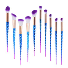 Load image into Gallery viewer, ABC Makeup Rainbow Unicorn 10 Brush Set | Monthly Madness