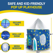Load image into Gallery viewer, JuniorFX Rocket Pop Up Play Tent With Carry Bag