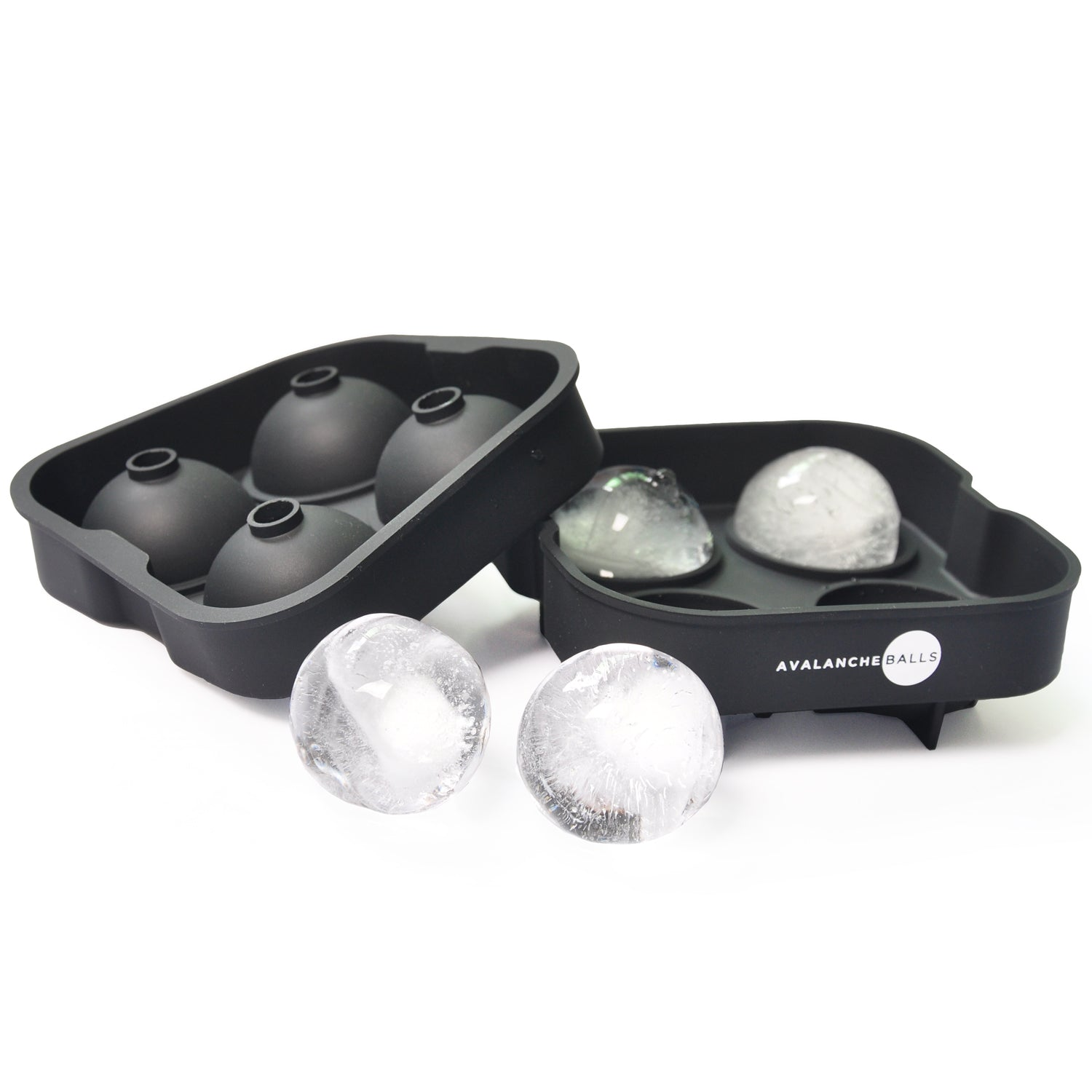 Avalanche Balls - 4 Round Ice Cube Spheres Tray Mold | Monthly Madness