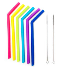 Load image into Gallery viewer, KitchenFX Pack of 6 Reusable Colourful Silicone Straws | Monthly Madness
