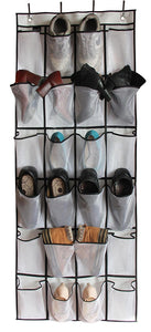 Shoe Organiser - 24 Large Mesh Pockets | Monthly Madness
