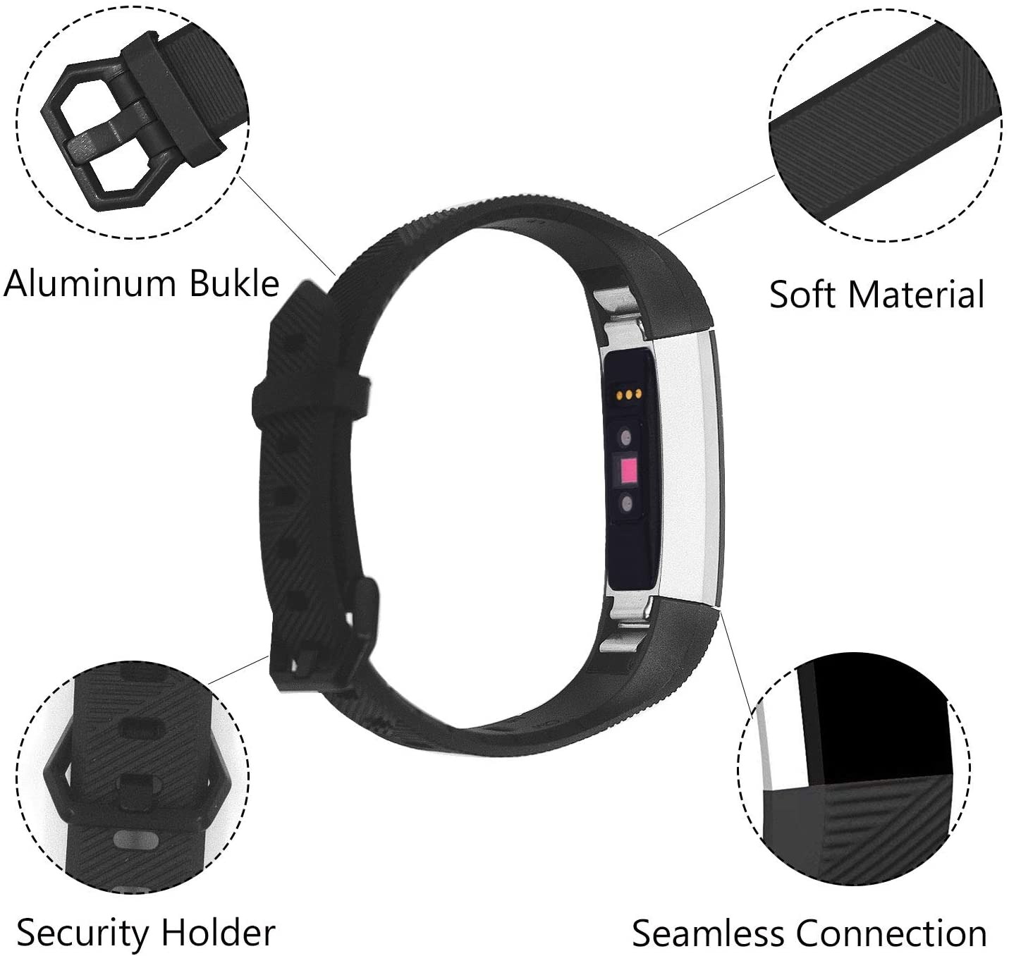 Linxure Fitbit Alta HR Silicone Replacement Strap - Small | Monthly Madness