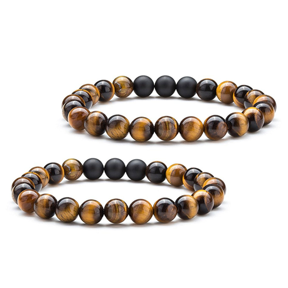 8mm Tiger Eye Bead Bracelet - 2 Pack | Monthly Madness