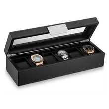 Load image into Gallery viewer, Triton Luxury Carbon Fibre 6 Slot Luxury Watch Organiser