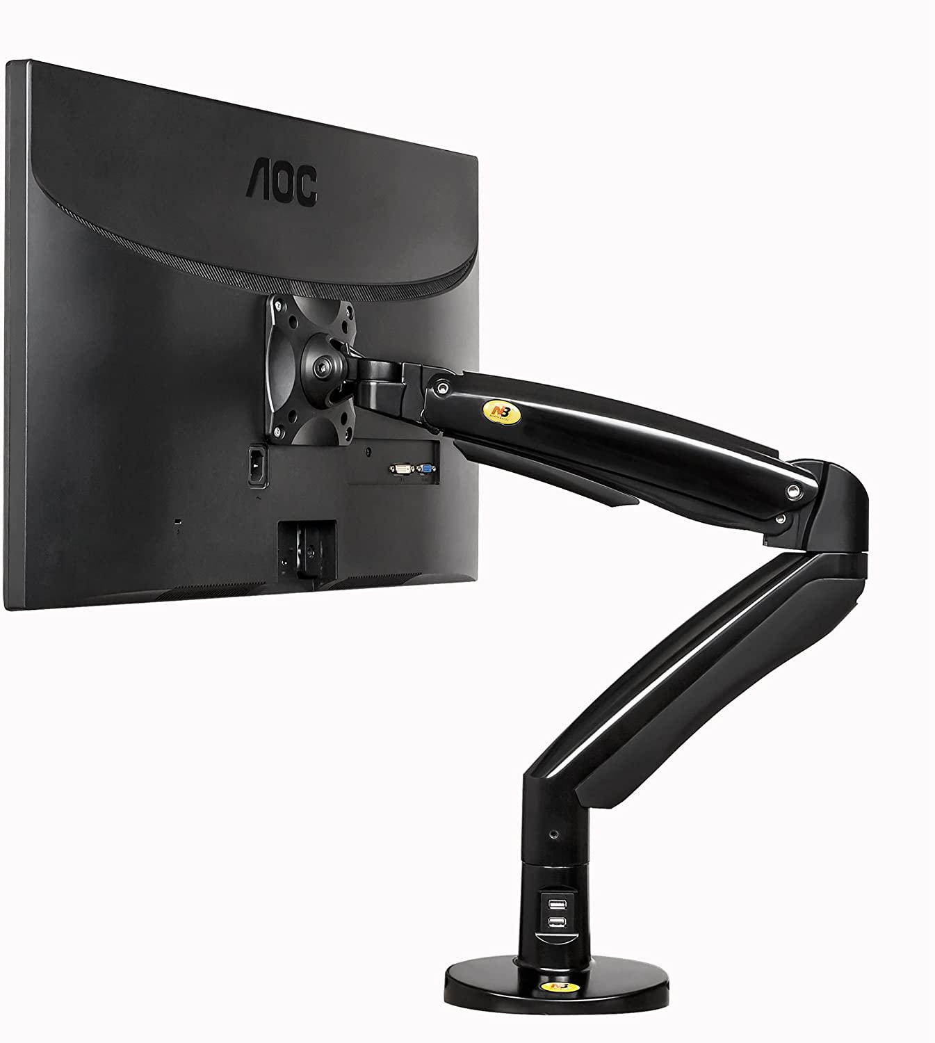 NB North Bayou Double Extension Swivel Monitor Mount for 22-35 Inch Screens