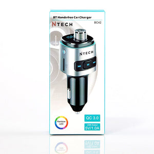 Ntech Bluetooth Hands-free Kit with FM Transmitter | Monthly Madness