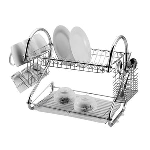 Dish Rack Double Layer - Silver | Monthly Madness