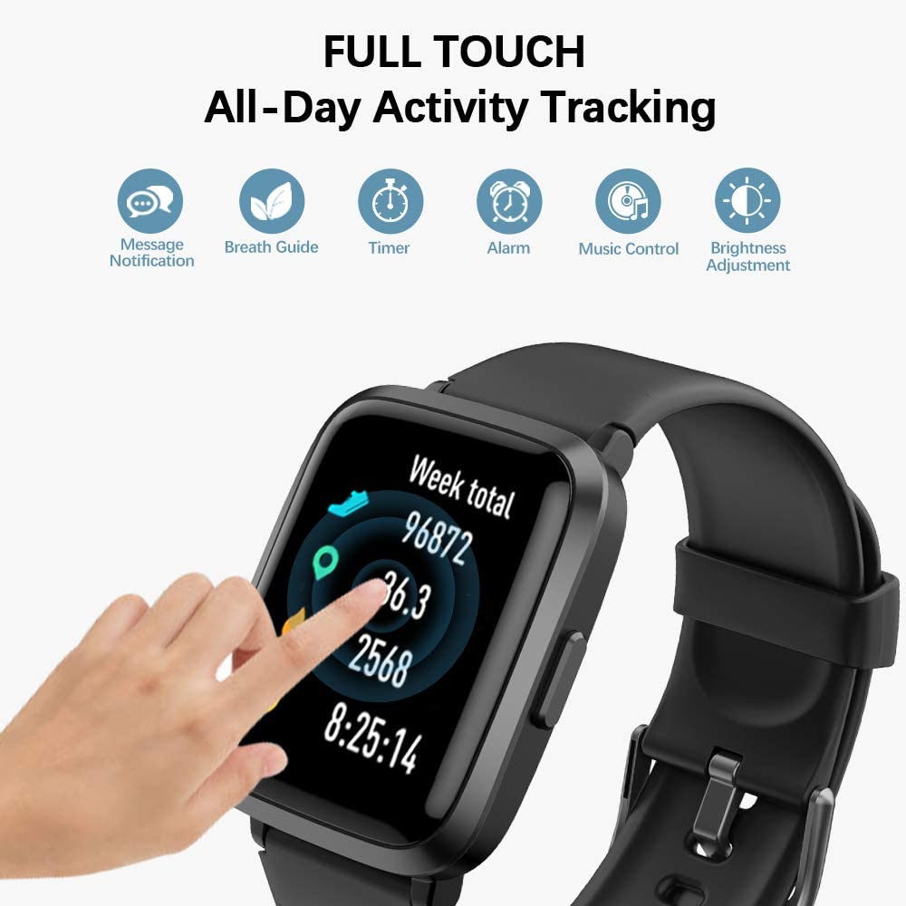 Ntech Veryfit ID205U Fitness Tracker Bluetooth Smart Watch with Heart Rate Monitor
