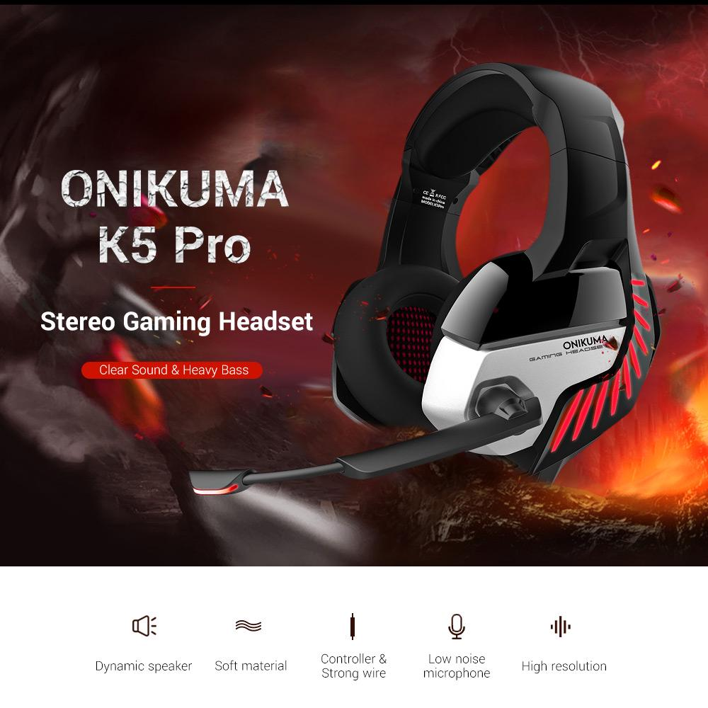 ONIKUMA K5 Stereo Gaming Headset for PS4 PC Xbox | Monthly Madness