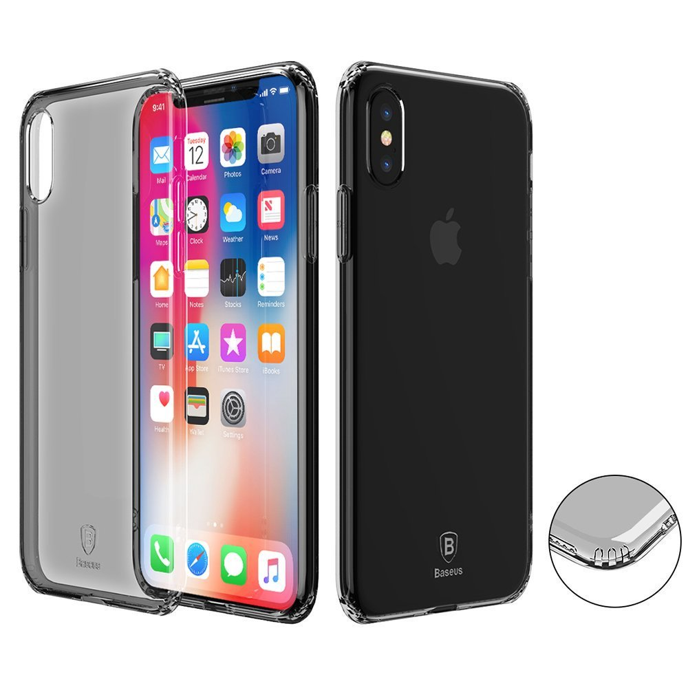 Baseus Black Transparent iPhone X Cover (Parallel import) | Monthly Madness