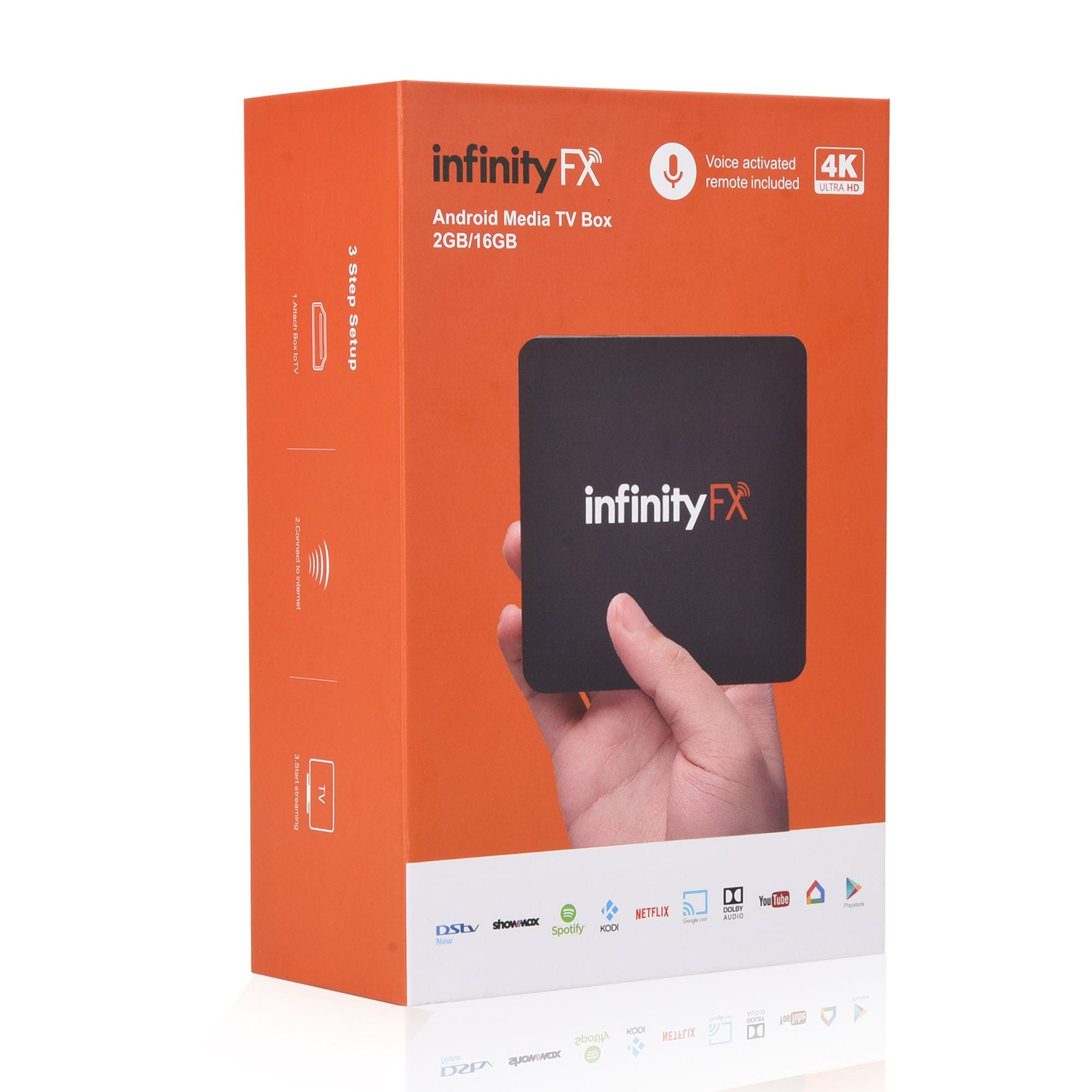 InfinityFX Android 8.0 Media TV Box with DSTVNow | Monthly Madness