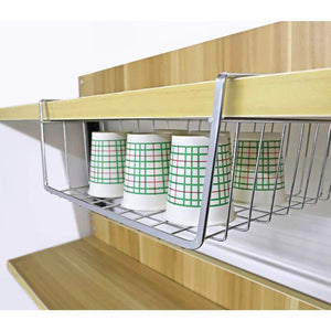 HomeFX Under Cabinet Storage Shelf Basket 2 Set | Monthly Madness