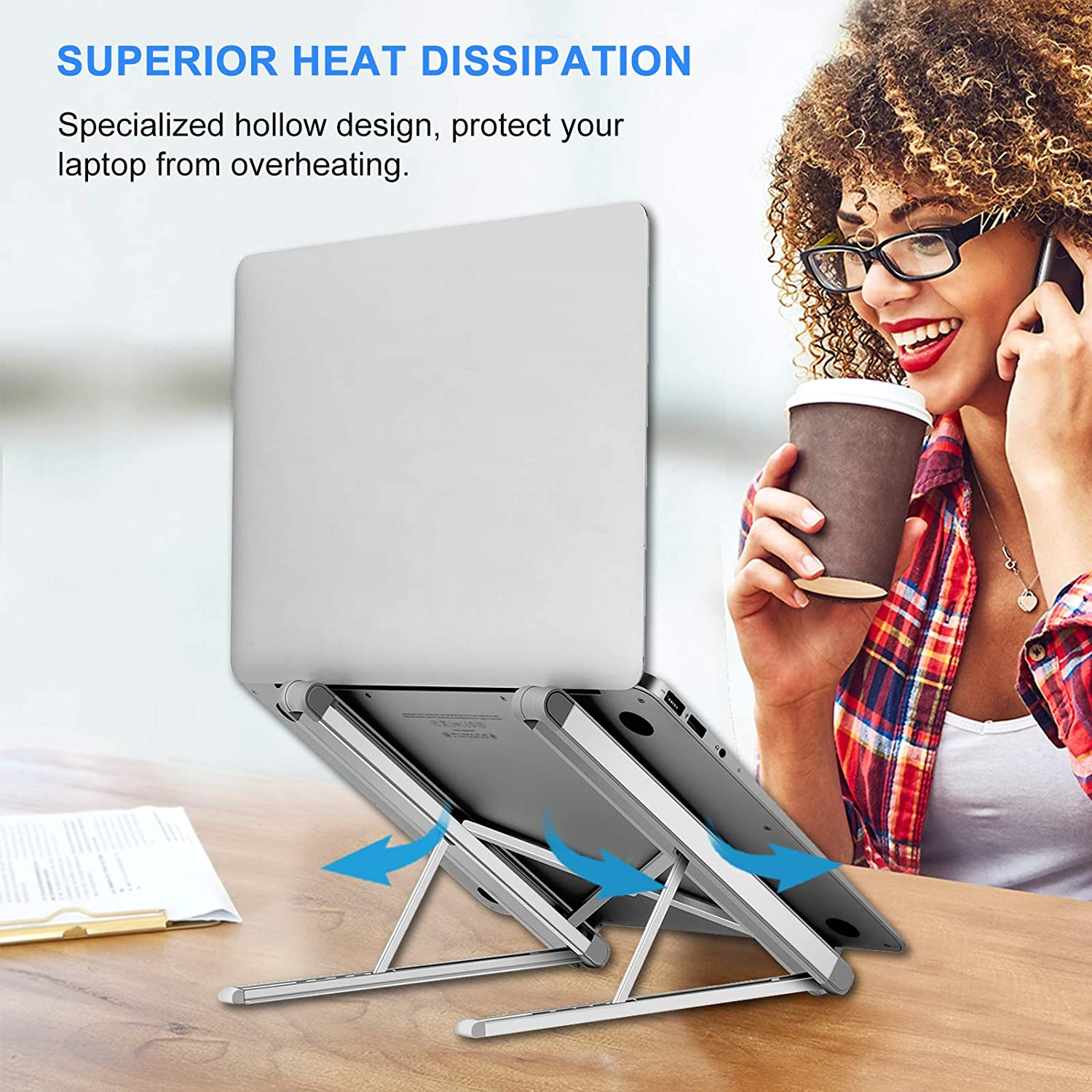 Ntech Portable Laptop and Tablet Stand